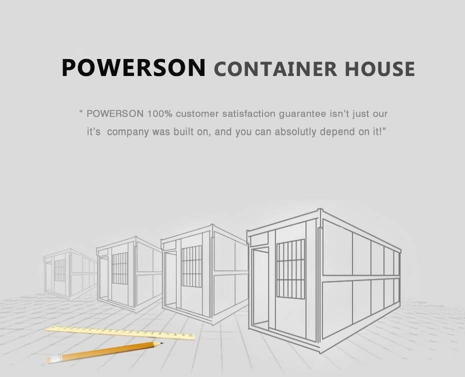 single storey accommodation container building