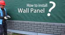 how to install wall panel